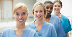 Groupe d'infirmières interculturelles